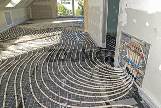 Installation einer Fußbodenheizung