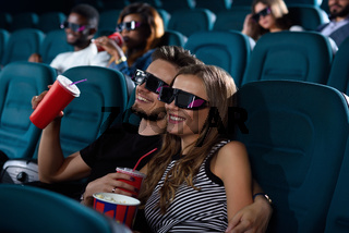 Lovely couple at the movie theatre