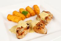 pork fillet with potato croquettes