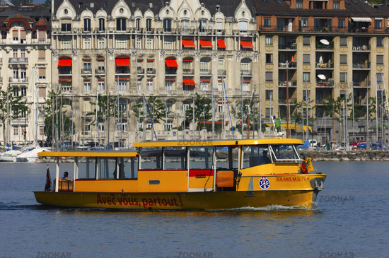 Ferry boat on Lake Geneva, Geneva, Switzerland