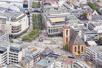 Frankfurt Germany aerial view