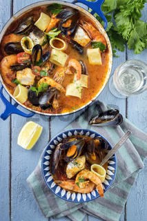 Seafood Stew in a Casserolle