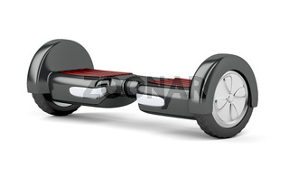 Black self balancing scooter
