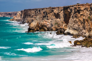 Scenic cliffs of Head of bight, Nullarbor, South Australia