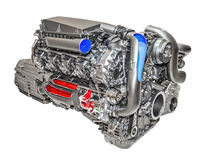 Modern and powerful engine of a car