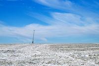 Hills in the snow under blue sky Landscape - Landscape