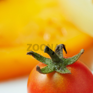 Tomato with green tail