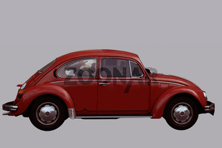 Isolierter VW Käfer