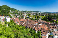 Typical view from top to the city of Baden