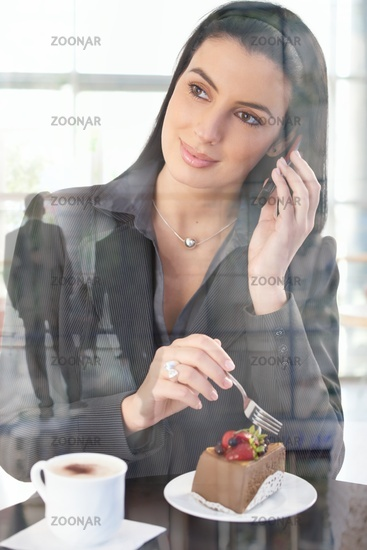 Businesswoman in office cafe