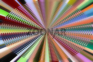 Zentriert farbiges Streifenmuster