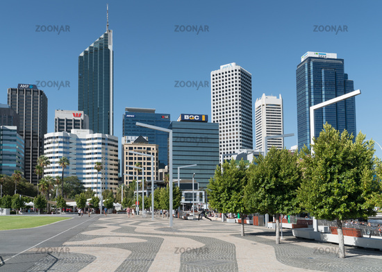 City center of Perth, Australia