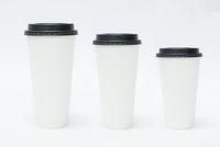 Three Takeaway Coffee Cups