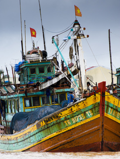 Fischerboote - Mekong, Vietnam