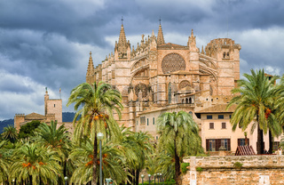 Gothic style Dome of Palma de Mallorca, Spain