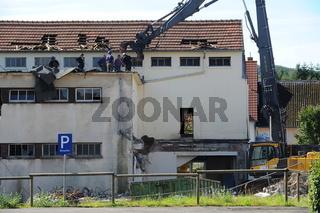 Abriss Ortskern Sanierung Oberthal Aug. 2009