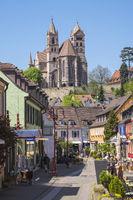 Pedestrian street with Münster Breisach