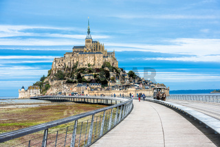 Mont-Saint-Michel, an island with the famous abbey, Normandy, France