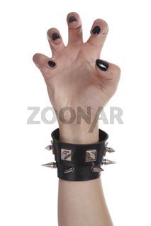 Black nails and bracelet