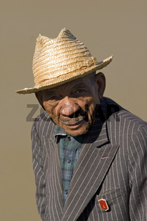 Portraet, Alter Madagasse, Madagaskar, Afrika, old man, Madagascar, Africa