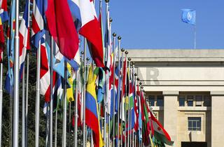 Fahnen aus aller Welt, UNO, Genf