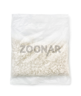 Top view of quick cooking rice bag