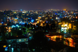 Patan and Kathmandu illuminated for Tihar