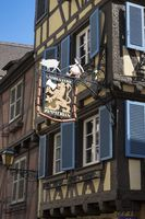 Colmar, Historic half-timbered house in the Rue des Serruriers, built in 1540