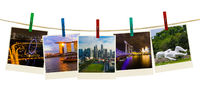 Singapore travel images (my photos) on clothespins