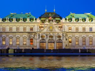Palace Belvedere in Vienna Austria
