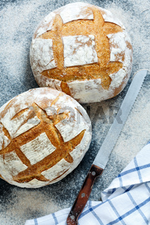 Fresh homemade sourdough bread.