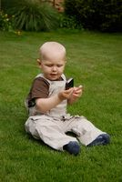 Child with an phone