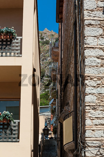 Alley in Taormina, Sicily, Italy