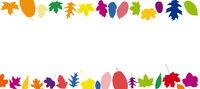 Bunte Blätter in verschiedene Farben