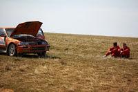 Auto rally in spring desert