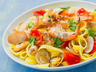 rustic italian seafood pasta