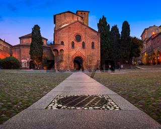Piazza Santo Stefano in the Evening, Bologna, Emilia-Romanga, Italy