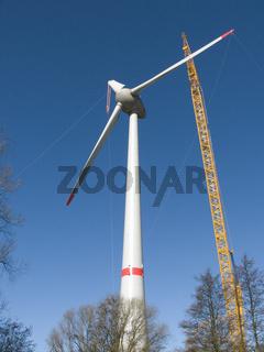 BAu einer Windenergieanlage