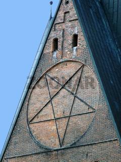 Pentagram an der Marktkirche zu Hannover