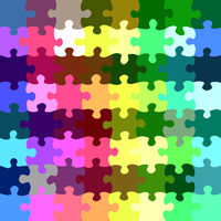 seamless texture of bright jigsaw parts