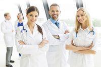 Medical team group portrait