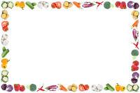 Gemüse Textfreiraum Copyspace Rahmen Karotten frische Tomaten Paprika
