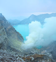 Kawah Ijen crater. Java, Indonesia