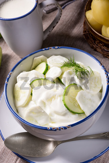 Mizeria is a Polish cucumber salad