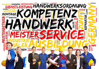 Konzept zum Handwerk in Deutschland