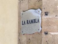 Old street sign - La Rambla - Palma de Majorca
