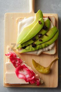 fresh avocado sandwich