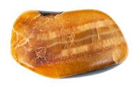 tumbled Simbircite (Yellow Calcite) gemstone