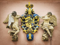 coat of arms with two angels