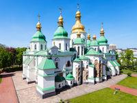 view of building of Saint Sophia Cathedral in Kiev